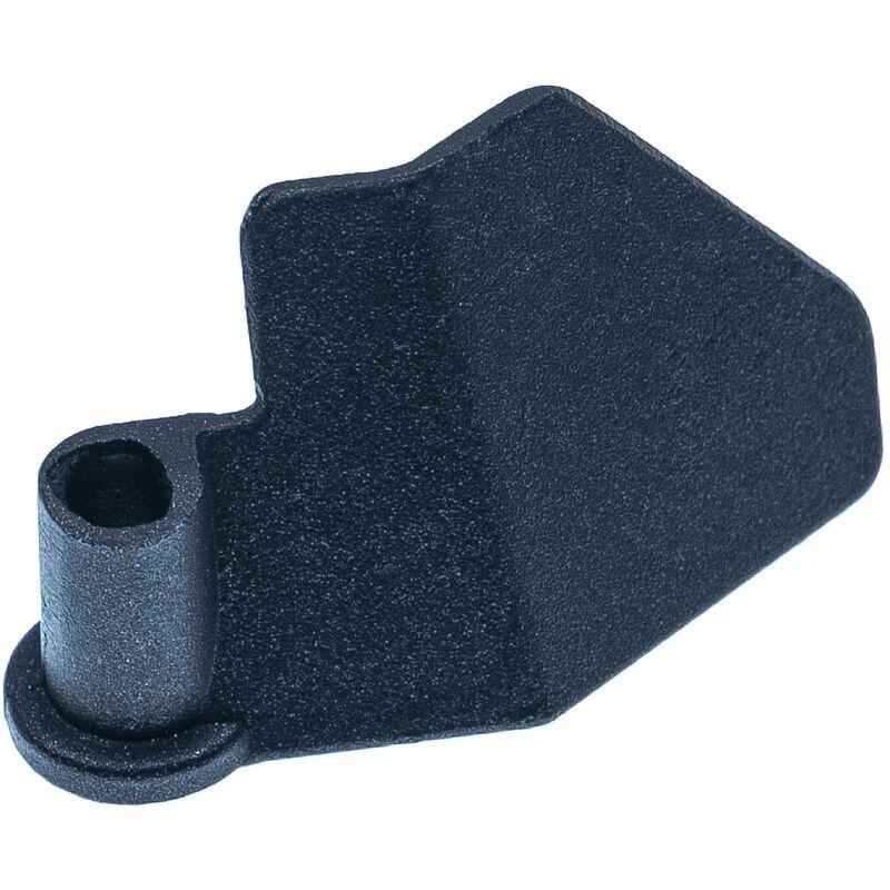 vhbw Crochet pétrisseur compatible avec Kitchen Pro 6730 machine à pain - Pale, 6,5 x 3,8 cm, aluminium, noir