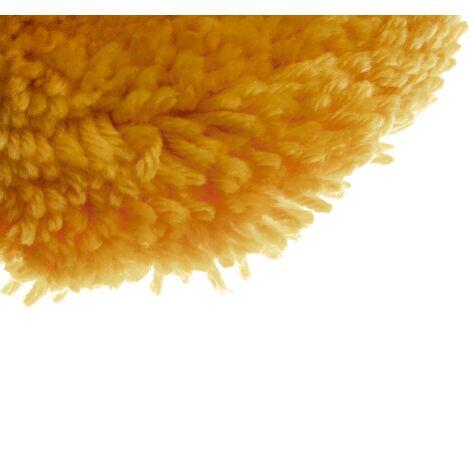 vhbw Disco compatible con máquina pulidora con disco de 15,24cm (6 pulgadas) - Hook & Loop, naranja, algodón / plástico