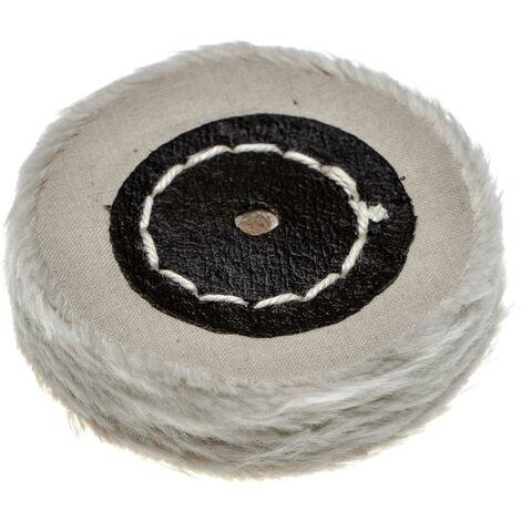 vhbw Disco para todas las amoladoras angulares comunes, taladros - almohadillas de repuesto con diámetro de 5 cm, color crema, algodón