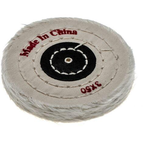 vhbw Disco para todas las amoladoras angulares comunes, taladros - almohadillas de repuesto con diámetro de 7,5 cm, color crema, algodón