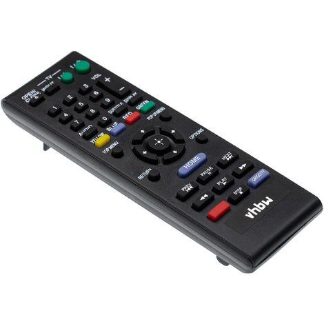 vhbw Fernbedienung passend für Sony BDP-S360, BDP-S380, BDP-S480, BDP-S560, BDP-S570, BDP-S580 Blu-Ray Disc Player - Ersatzfernbedienung