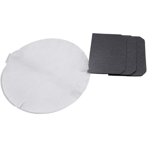 vhbw filter set, active carbon filter + paper filter for deep fat fryer DeLonghi F28 and D28 Series replaces 5512510041