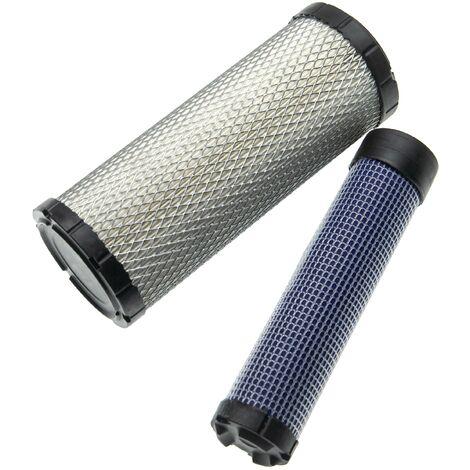 vhbw Filterset 2 tlg. kompatibel mit Yanmar VIO 26 Baumaschine Motor - 1x Innenfilter, 1x Außenfilter