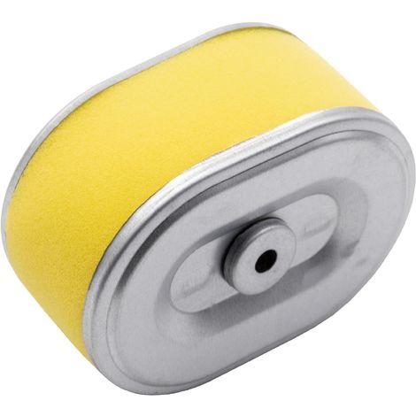 vhbw Filtre à air avec préfiltre de rechange jaune, argent compatible avec Honda F340, F360, F400, G150, G200, GX110, GX120, GX120 K1 tondeuse à gazon