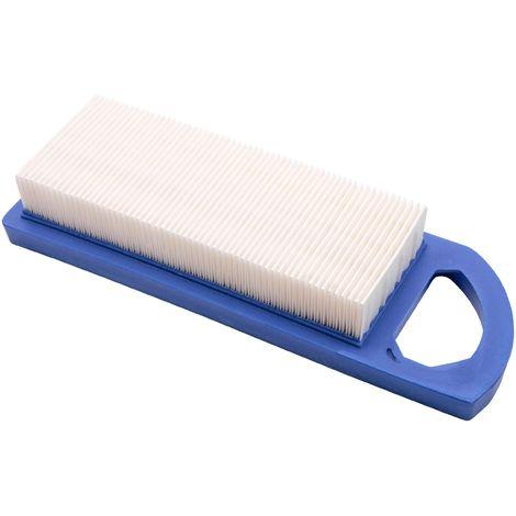 vhbw Filtre à air de rechange bleu, blanc remplace Craftsman 33425 pour tondeuse à gazon; 18 x 8 x 3,5cm