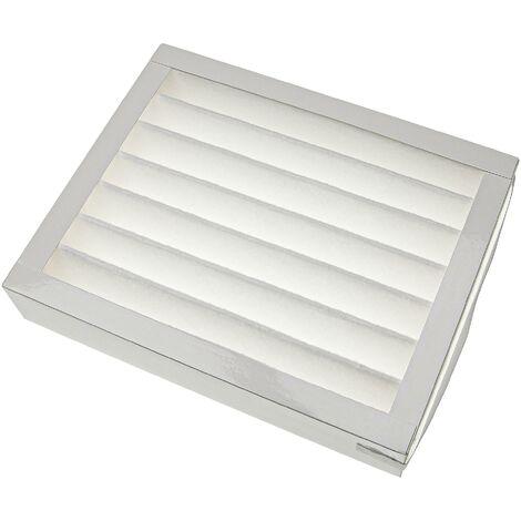 vhbw Filtre compatible avec Paul Multi 100/150 DC appareil de ventilation - Filtre à air F7, 25 x 20 x 5 cm, blanc