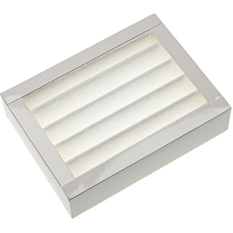vhbw Filtre compatible avec Zehnder ComfoAir 100 appareil de ventilation - Filtre à air F7, 20 x 15 x 5 cm, blanc