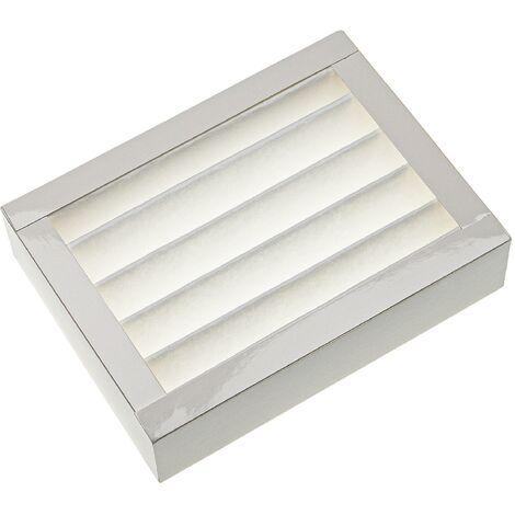 vhbw Filtre compatible avec Zehnder Ventos 50 appareil de ventilation - Filtre à air F7, 20 x 15 x 5 cm, blanc