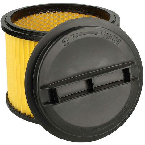 vhbw Filtre d'aspirateur compatible avec Einhell BT-VC 1115, BT-VC 1215 S, BT-VC 1250, BT-VC 1250 S, BT-VC 1450 SA aspirateur; filtre plissé