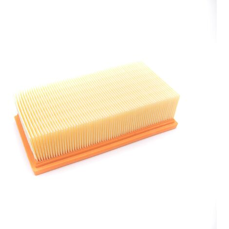 vhbw Filtre d'aspirateur compatible avec Kärcher NT 351 Eco, NT351 Profi aspirateur - Filtre principal, filtre plissé plat