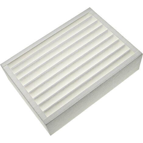 vhbw Filtre remplacement pour Zehnder 10015514, 524000090 pour appareil de ventilation - Filtre à air F7, 36 x 26 x 10 cm, blanc