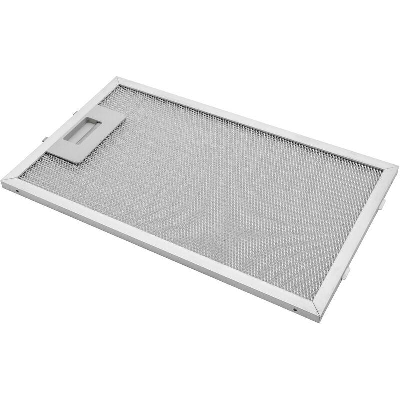 Vhbw Filtrepermanent filtre à graisse métallique 32,5 x 19,6 x 0,85 cm convient pour Zanussi ZHC664X hottes de cuisinière métal