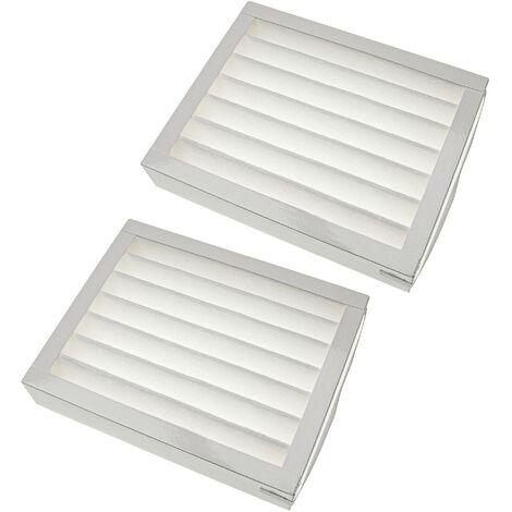 vhbw Filtres compatible avec Zehnder ComfoAir 150 appareil de ventilation - Filtre à air F7, 25 x 20 x 5 cm, blanc