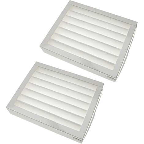 vhbw Filtres remplacement pour Zehnder 524000060 pour appareil de ventilation - Filtre à air F7, 25 x 20 x 5 cm, blanc