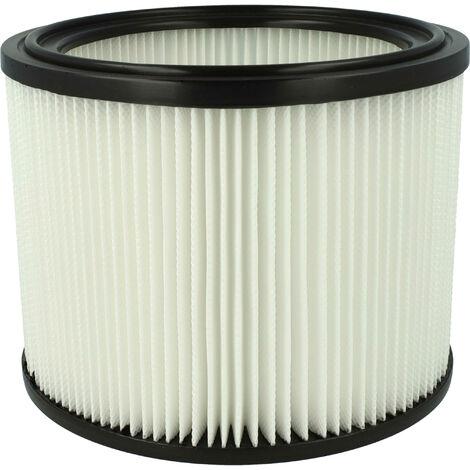 vhbw Filtro aspiradora compatible con Makita 440, 441, 442, 443, 444, 445, 446, 446L, 446LX; aspirador, elemento filtrante