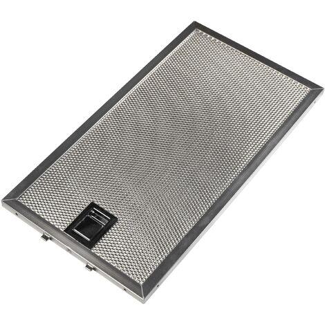 vhbw Filtro Permanente metálico para grasa reemplaza Miele 8258211 para Campana extractora metal