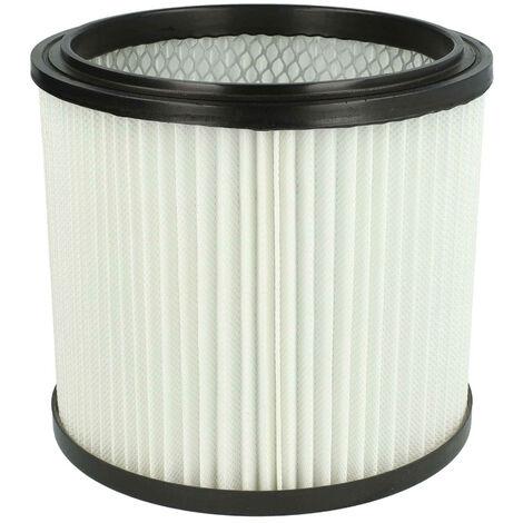 vhbw Filtro redondo compatible con MAUK NTS (aspiradora seco/húmedo) 30l 1200W, NTS (aspiradora seco/húmedo) 20l 1200W; aspiradora multiusos