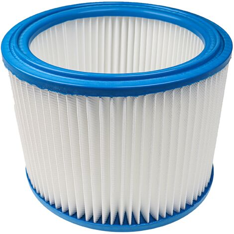 vhbw Filtro redondo, filtro plisado adecuadas para aspiradoras Nilfisk Aero 20-01 Inox Nilfisk-Alto Attix 19xx, Attix 22, Attix 30-21xC