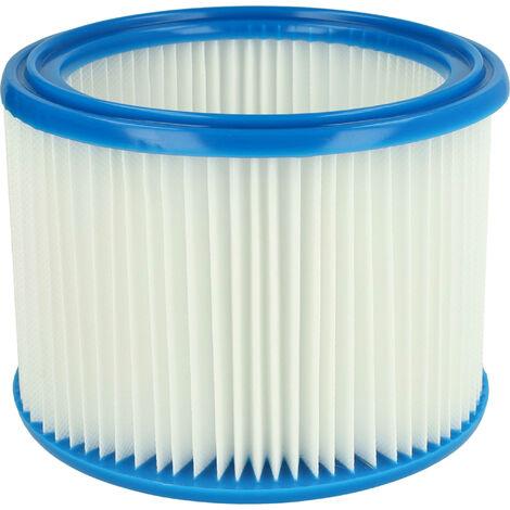 vhbw Filtro redondo, filtro plisado para aspiradoras, robots aspiradores, aspiradores Nilfisk Attix 30-2M PC, 40-01 PC Inox, 40-0M PC Zone 22, ...