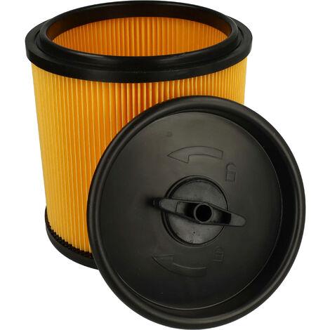 vhbw Filtro reemplaza Grizzly 91092030 filtro para aspiradora; filtro plisado con tapón de cierre