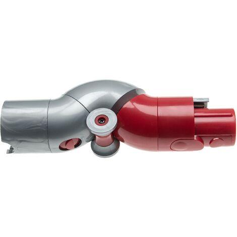 vhbw Gelenkadapter kompatibel mit Dyson V7 Fluffy, Fluffy (altes Modell), Motorhead, Motorhead + Staubsauger - grau / rot