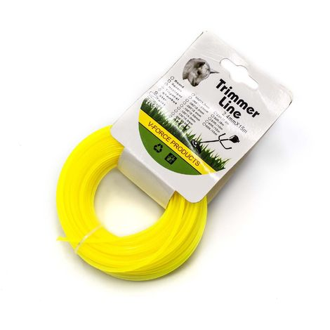vhbw Hilo de corte universal para cortacésped, recortadora - Hilo recambio, amarillo, 2,4 mm x 15 m, redonda