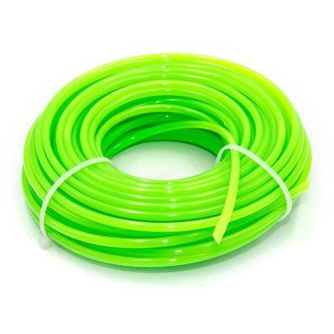 vhbw Hilo de corte universal para cortacésped, recortadora - Hilo recambio, verde, 3 mm x 15 m, redonda