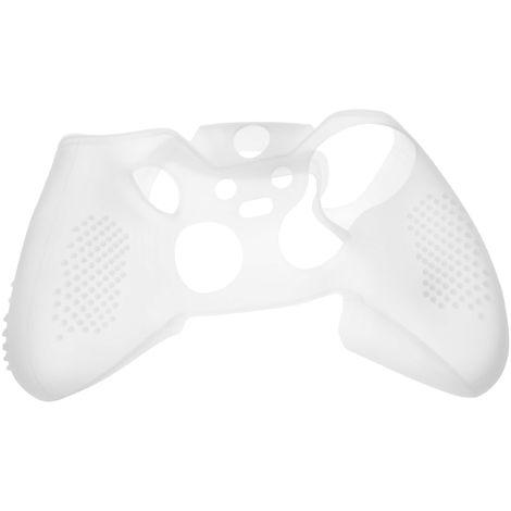 vhbw Hülle, Case Silikon transparent / weiß passend für Microsoft Xbox Elite Controller Spielkonsole, Controller