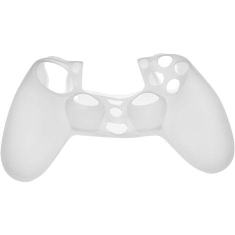 vhbw Hülle, Case Silikon transparent / weiß passend für Sony PlayStation 4 DualShock 4 Wireless Controller Spielkonsole, Controller