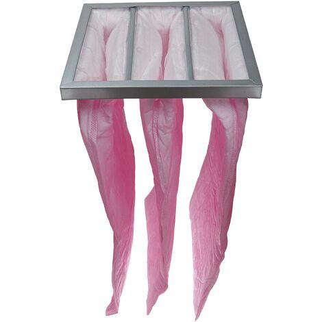 "main image of ""vhbw HVAC F7 Bag Filter for Air-Conditioner Unit, Ventilation System, HVAC Applications, 28,7 x 28,7 x 60 cm, Neon Pink - Pocket Filter, AC Air Filte"""