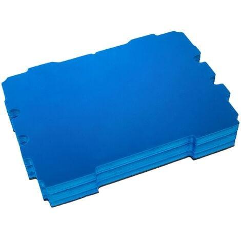 vhbw Insert en mousse compatible avec Festool Systainer T-LOC caisse à outils - mousse rigide, noir-bleu, 60mm