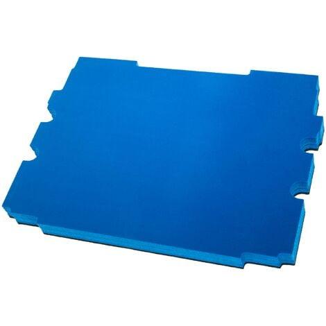 vhbw Insert en mousse compatible avec Makita MakPac 1, 2 caisse à outils - mousse rigide, noir-bleu, 30mm