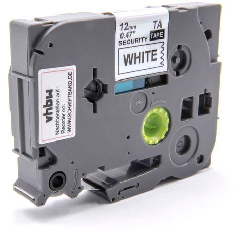 2100 2030VP vhbw Kassette Patronen Schriftband schwarz 12mm f/ür Brother P-Touch 200 2030AD wie TZ-335 2100VP 210 TZE-335. u.a 2030