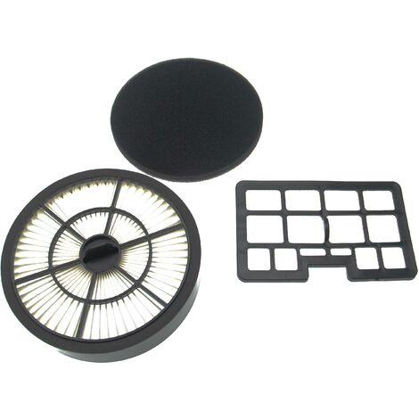 vhbw Kit de filtres (2x pièce) compatible avec Hanseatic VC-T4020, VC-T4020E-1, VC-T4020ES-2, VC-T4020ES17 aspirateur,filtre combiné + filtre à air