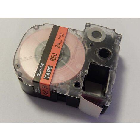 vhbw LABEL PRINTER RIBBON CARTRIDGE 24mm for KingJim SR530C, SR3900C, SR550, SR530, SR330 as LC-6YRN, SC24RW.