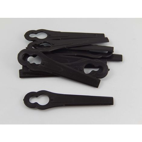 vhbw Lames en plastique pour tondeuses à gazon compatible avec Einhell GE-CT-18-Li, BG-CT 18 Li, RG-CT 18/1 Li (10 pièces, noir)