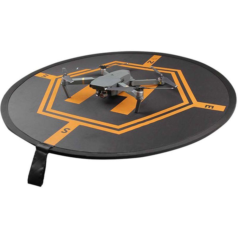 Image of vhbw Landematte Landeplatz schwarz-orange passend für Drohne Multicopter Quadrocopter DJI Mavic Pro 2, 3, 4