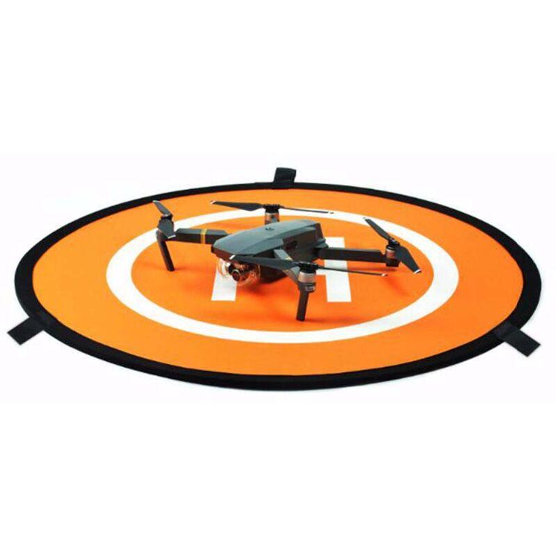 Image of vhbw Landematte Landeplatz schwarz-orange passend für Drohne Multicopter Quadrocopter DJI Phantom 1, 2, 3, 4