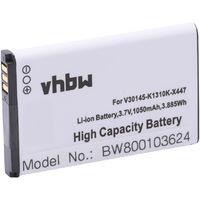 vhbw Li-Ion Akku 1050mAh (3.7V) für schnurlos Festnetz Telefon Siemens Gigaset SL910, SL910A wie V30145-K1310K-X447, V30145-K1310K-X447-0-HY.