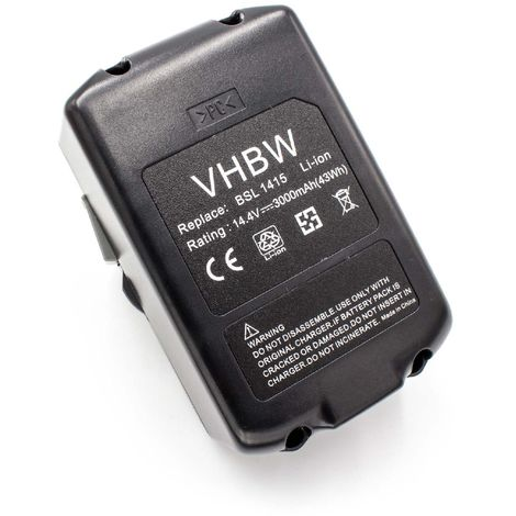 vhbw Akku für Hitachi WH 14DH WH 14DM Li-Ion 4000mAh 14.4V WH 14DL
