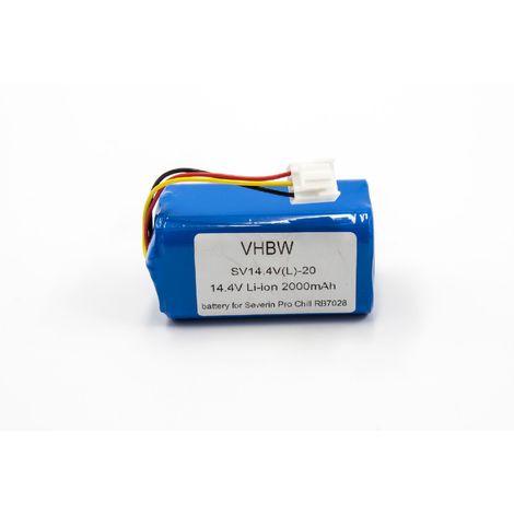 vhbw Li-Ion batterie 2000mAh (14.4V) pour Home Cleaner robots domestiques come Severin Chill RB7028