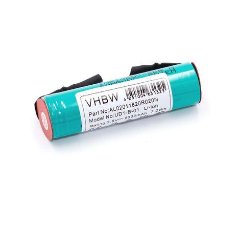 vhbw Li-Ion batterie 2000mAh (3.6V) pour cisaille à herbe, coupe-bordure Gardena Accu 60 Typ 8801 comme Accu60 LI, 08800-000.640.00,BMZ 1S1PUF18650VTI