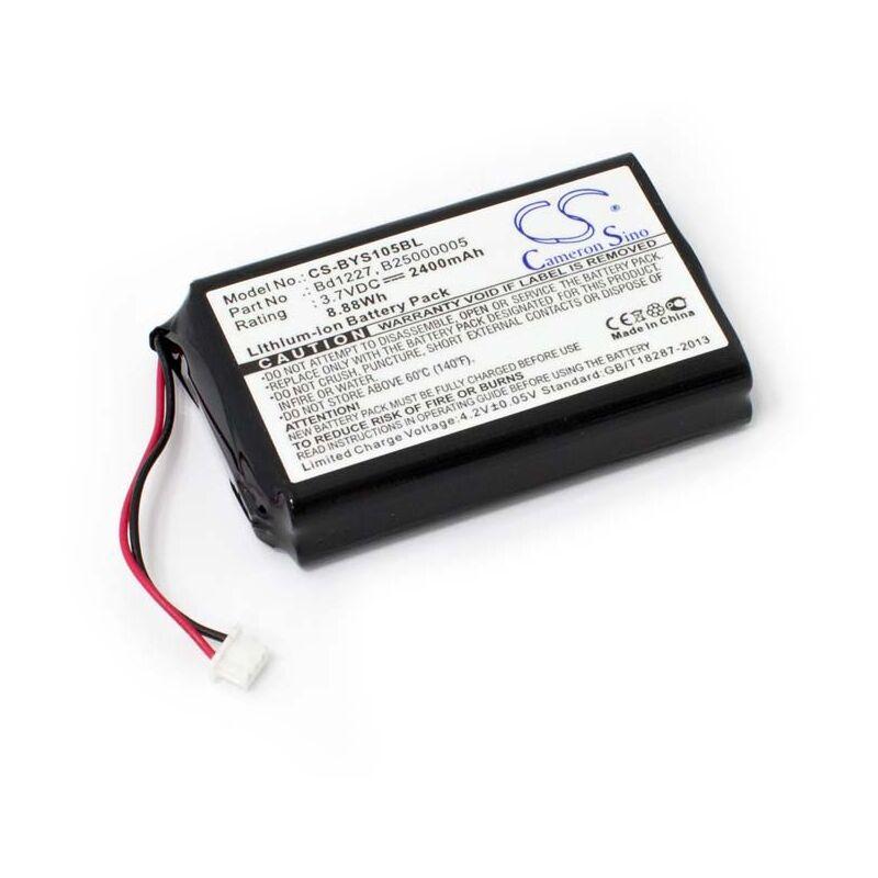 vhbw Li-Ion Batterie 2400mAh (3.7V) pour système de navigation GPS Baracoda RoadRunners Evolution BRR-L, YYS1-1056730 comme B25000005, BD1227.