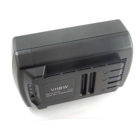 vhbw Li-Ion Batterie 3000mAh (36V) pour outils Güde batterie-scie Li-Ion (95665), batterie-tronçonneuse 300/36 Li-Ion (95680) comme 95526, 95543.