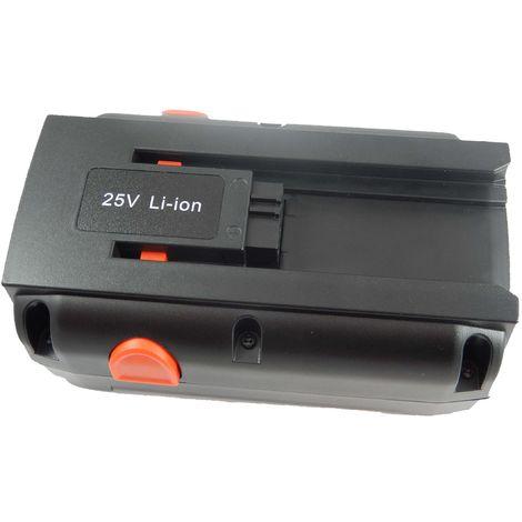 vhbw Li-Ion batterie 4000mAh (25V) pour tondeuse Gardena tondeuse hélicoidale 380 C, 380 EC comme 8838, 04025-20.