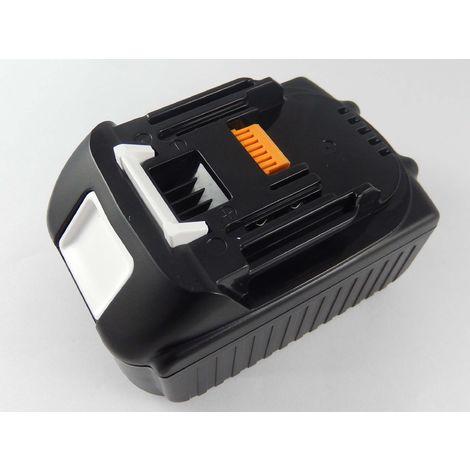 vhbw Li-Ion Batterie 4000mAh pour outils électriques Makita BTM50ZX5, BTP140, BTP140F, BTP140RFE, BTP140Z, BTP141 comme BL1830, 194204-5.
