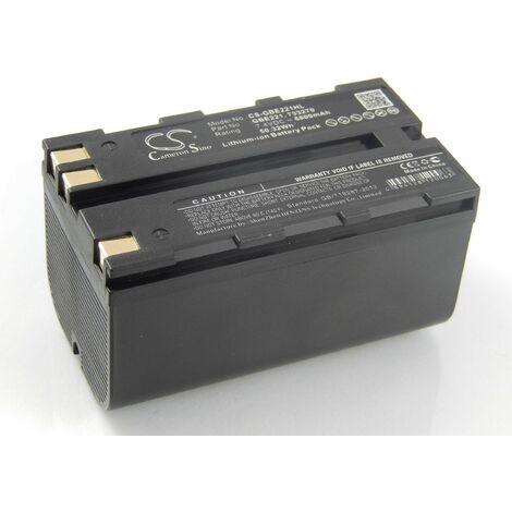 vhbw Li-Ion Batterie 6800mAh (7.4V) pour caméra laser Geomax Zenith 10, 20, 25 comme 724117, 733269, GEB90.