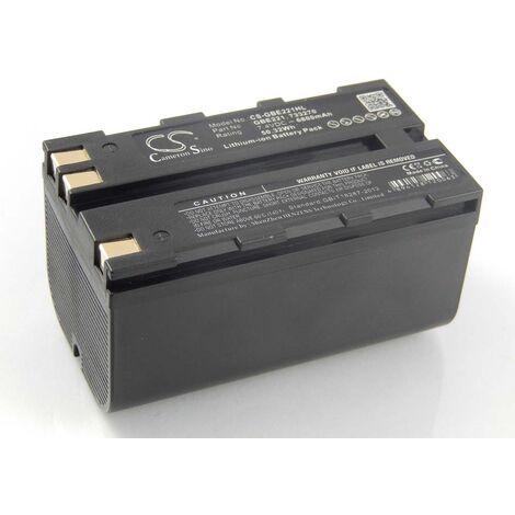 vhbw Li-Ion Batterie 6800mAh (7.4V) pour caméra laser Geomax ZT80+ comme 724117, 733269, GEB90.