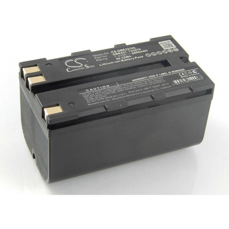 Li-Ion Batterie 6800mAh (7.4V) pour caméra laser Leica Flexline TS02, TS06, TS09 comme 724117, 733269, GEB90. - Vhbw