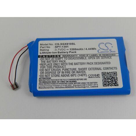 vhbw Li-Ion battery 1200mAh (3.7V) for golf GPS, satnav, rangefinder Skygolf SkyCaddie Touch, X8F-SC Touch replaces SPT-1301.